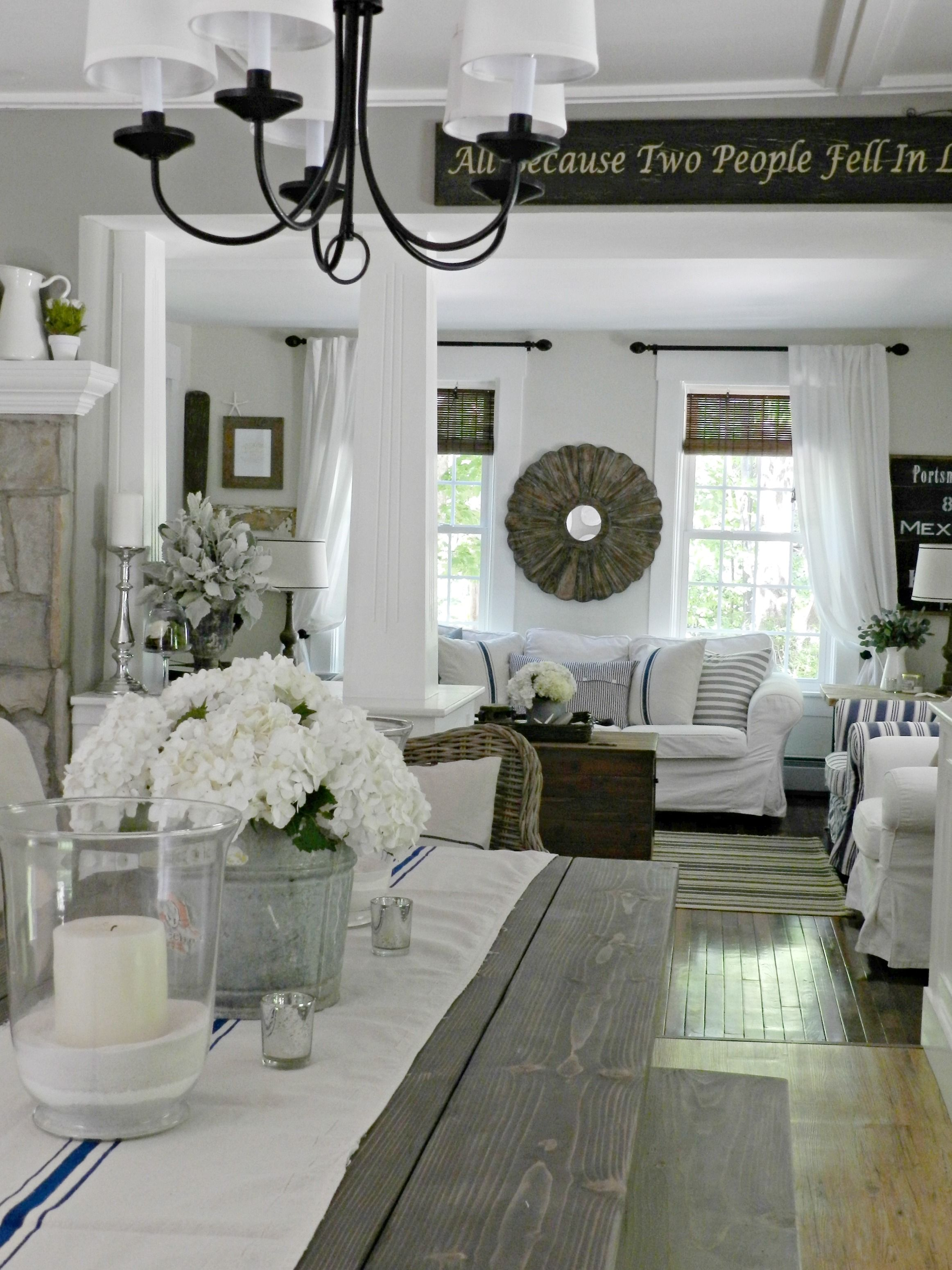 White dining room I love white!! Neutral home