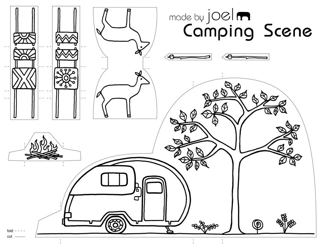 Made By Joel Paper City Camping Scene
