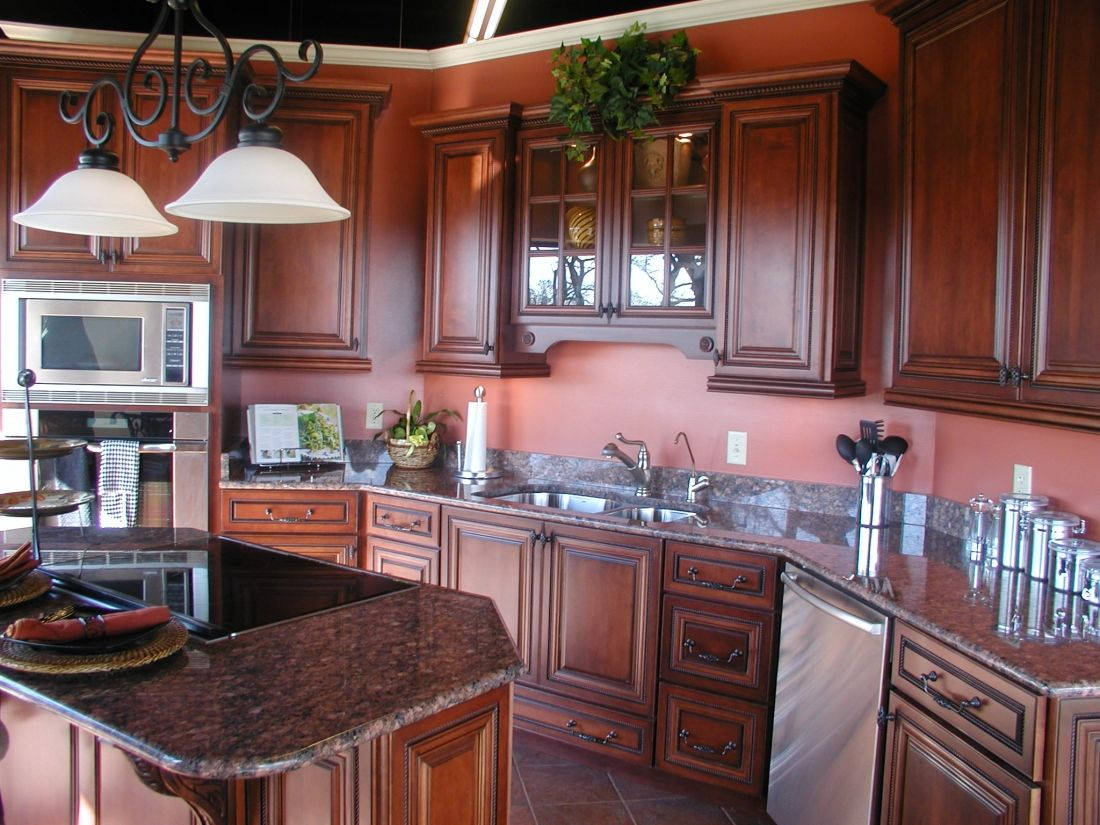 Brown Mahogany Kitchen Mahogany Wood