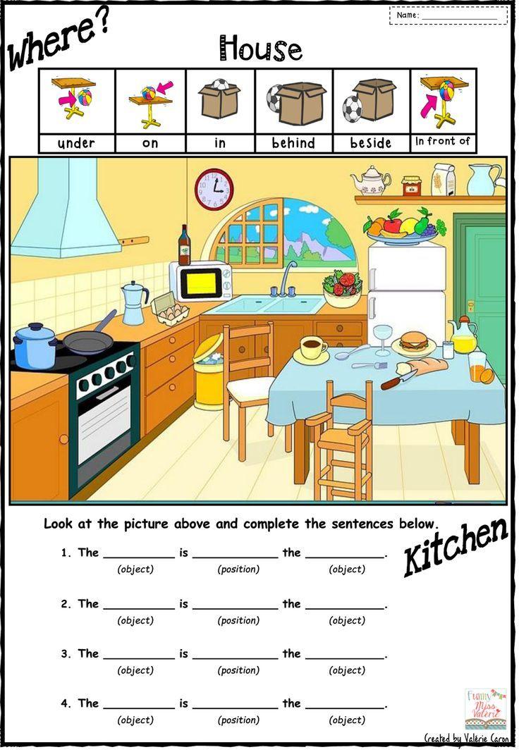 math worksheet preposition of place worksheets for
