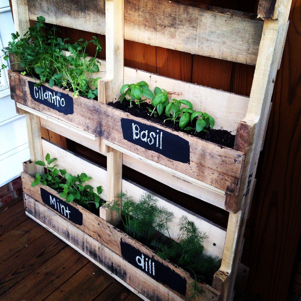 DIY Pallet Herb Garden — Love & Honey Wedding Consultant