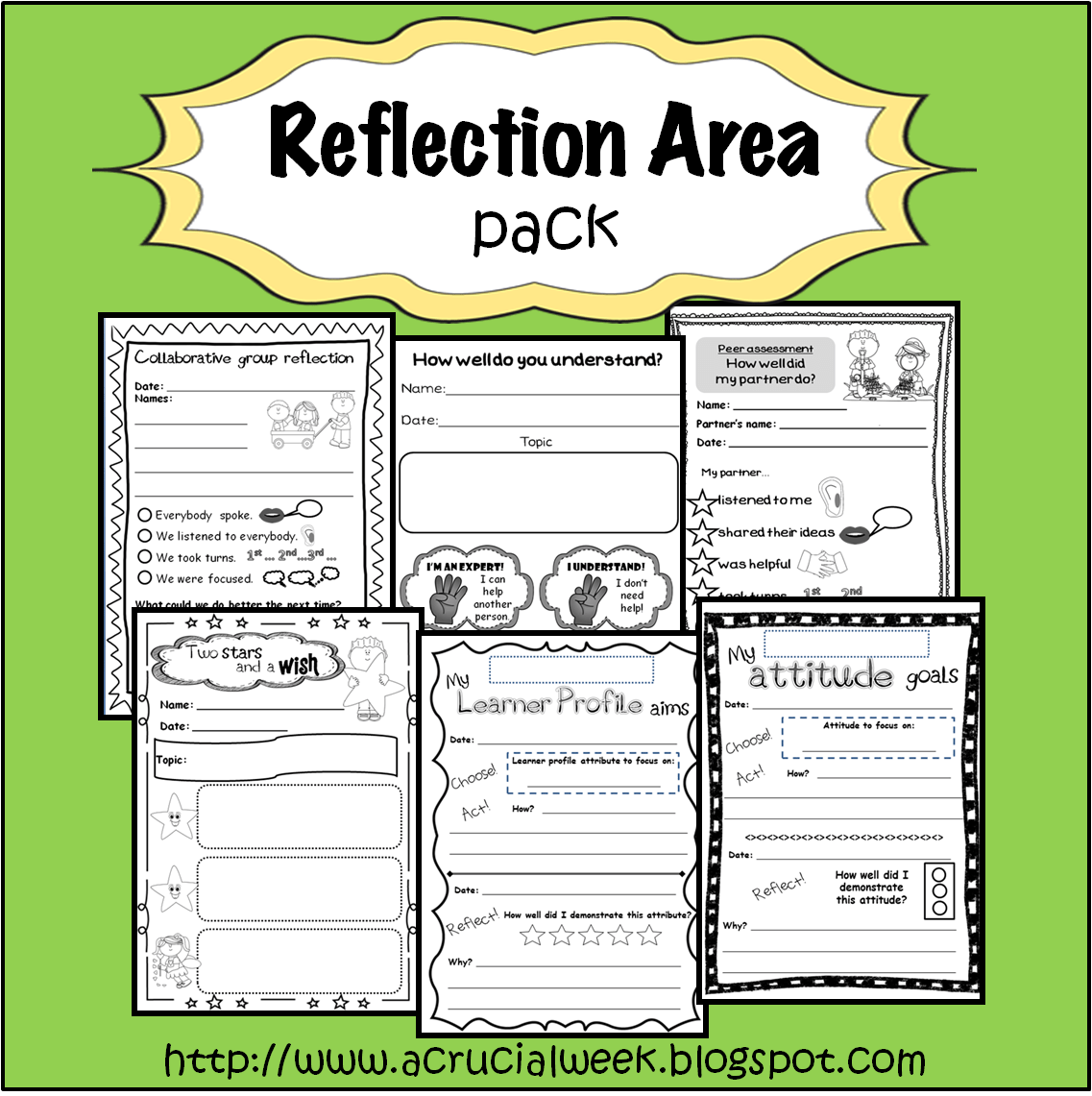 Reflection Area Pack With Peer Assessment Group