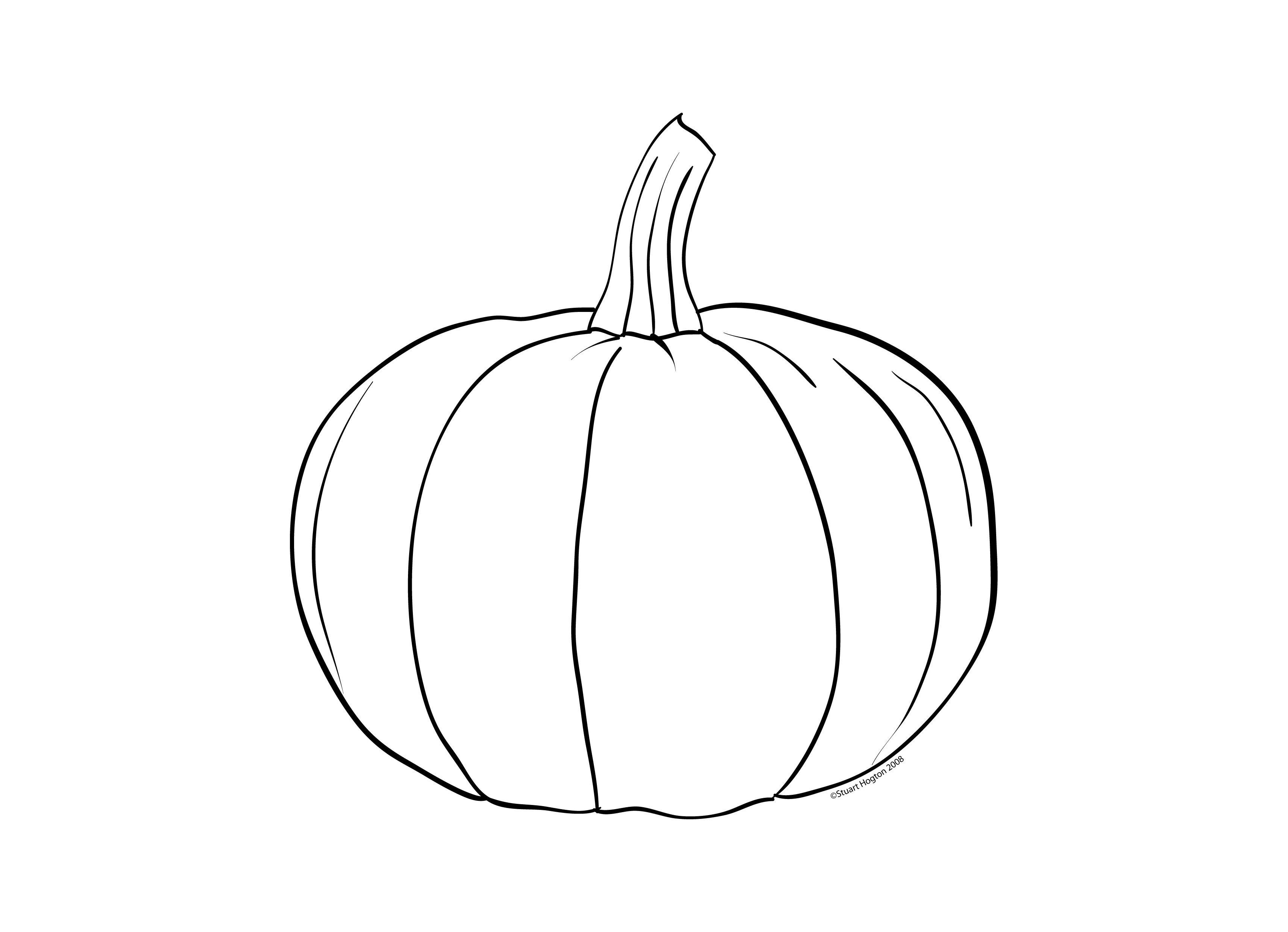 pumpkin pattern coloring page printable Free Large