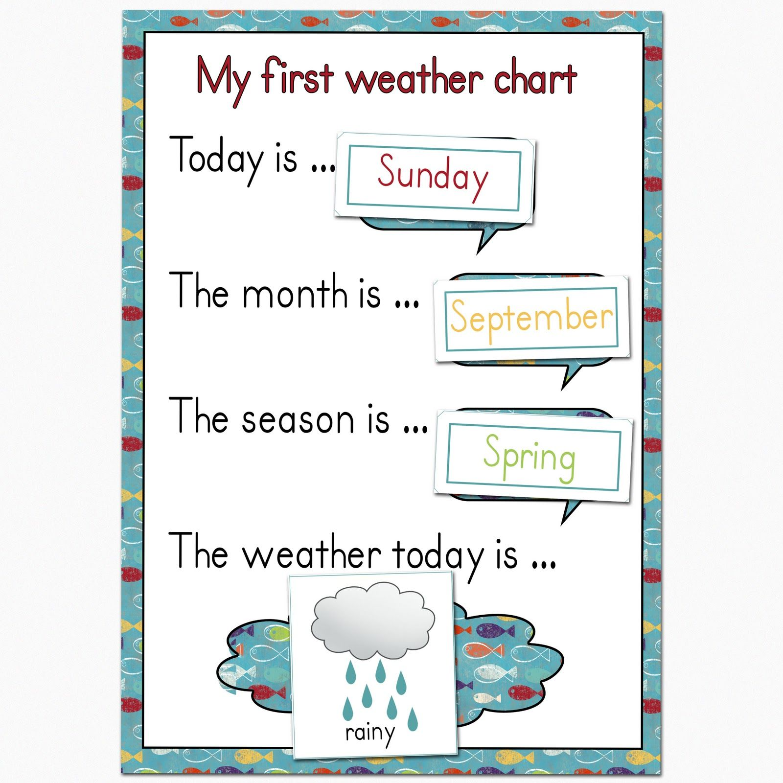 Fantail Digital Art My First Weather Chart Free Printable