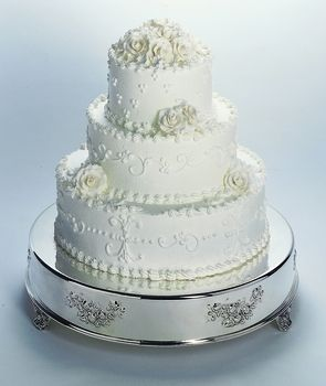 SILVER Wedding Cake 14  ROUND TABLEAU STAND NEW   190   Wedding Cake     SILVER Wedding Cake 14  ROUND TABLEAU STAND NEW   190
