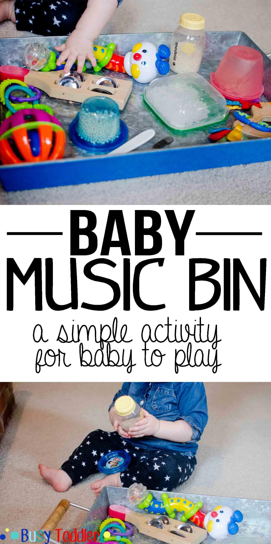 Baby Music Bin Sensory Fun