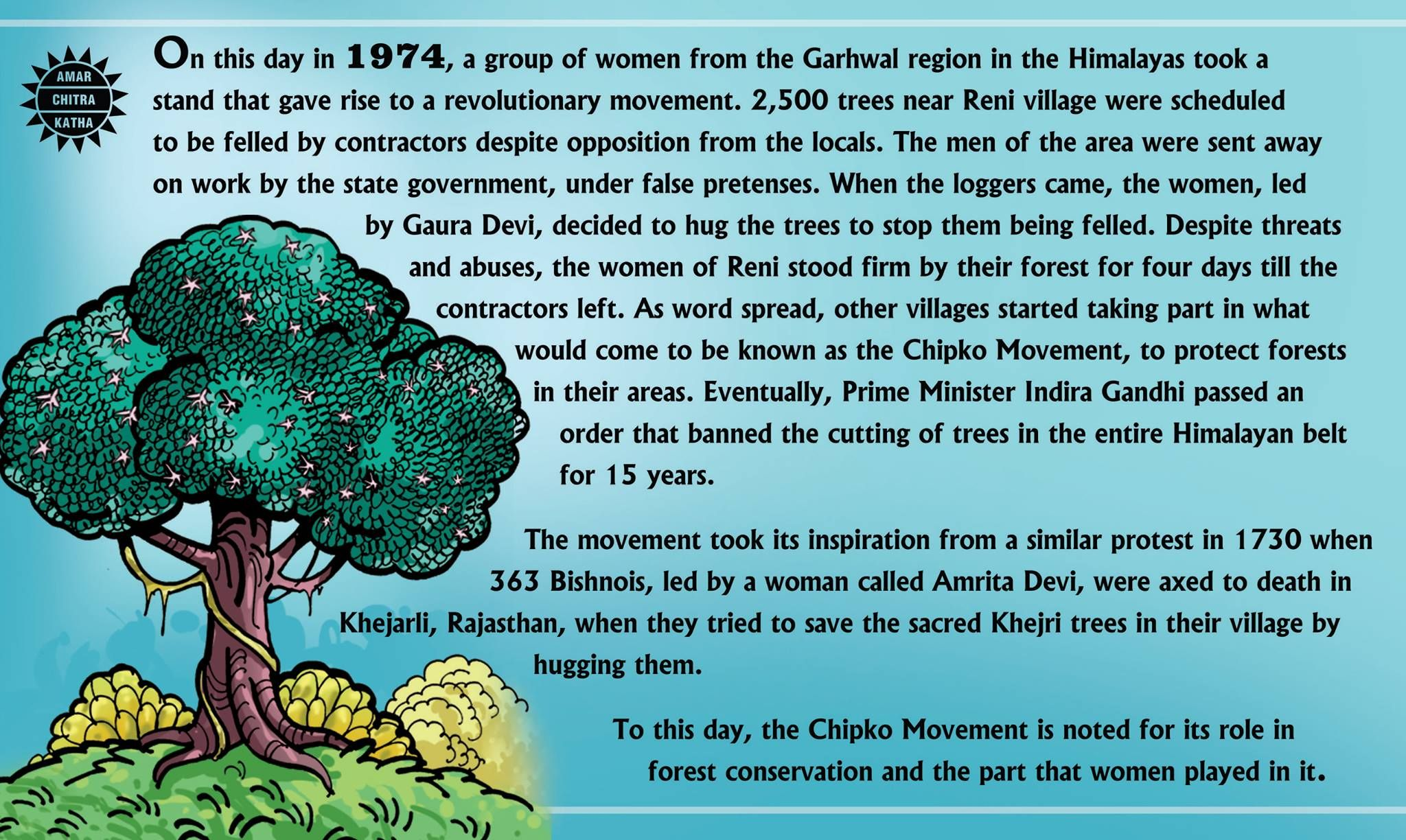 Chipko Movement India's green movement started by rural