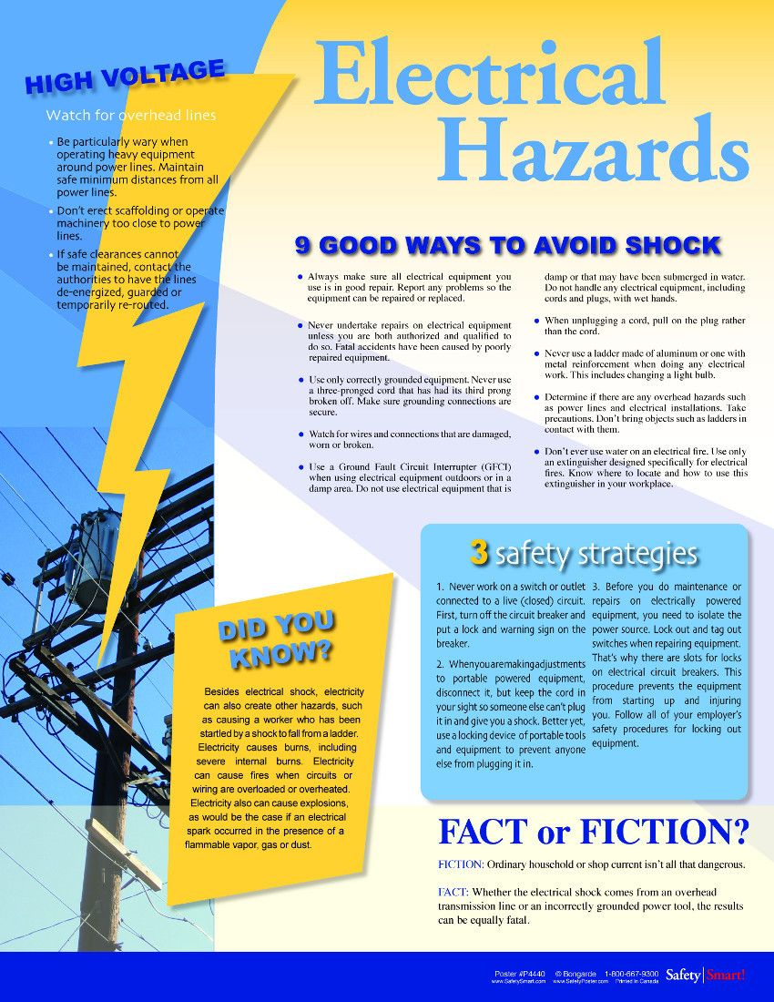 This example is an info poster about electrical hazards