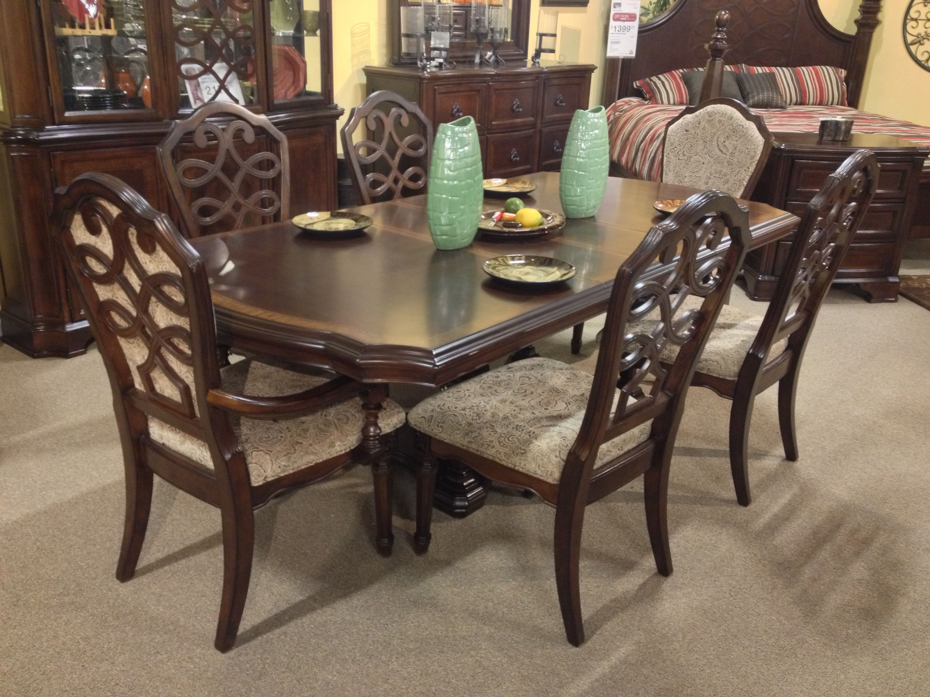 Flemingsburg 7 Piece Dining Room Set Ashley Furniture In TriCities Traditional Classic