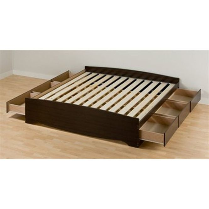 Prepac Furniture Mate S Espresso King Platform Bed With Storage Ebk 8400 K
