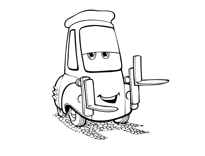 mater the tow truck lightening mcqueen cars 2 coloring page free