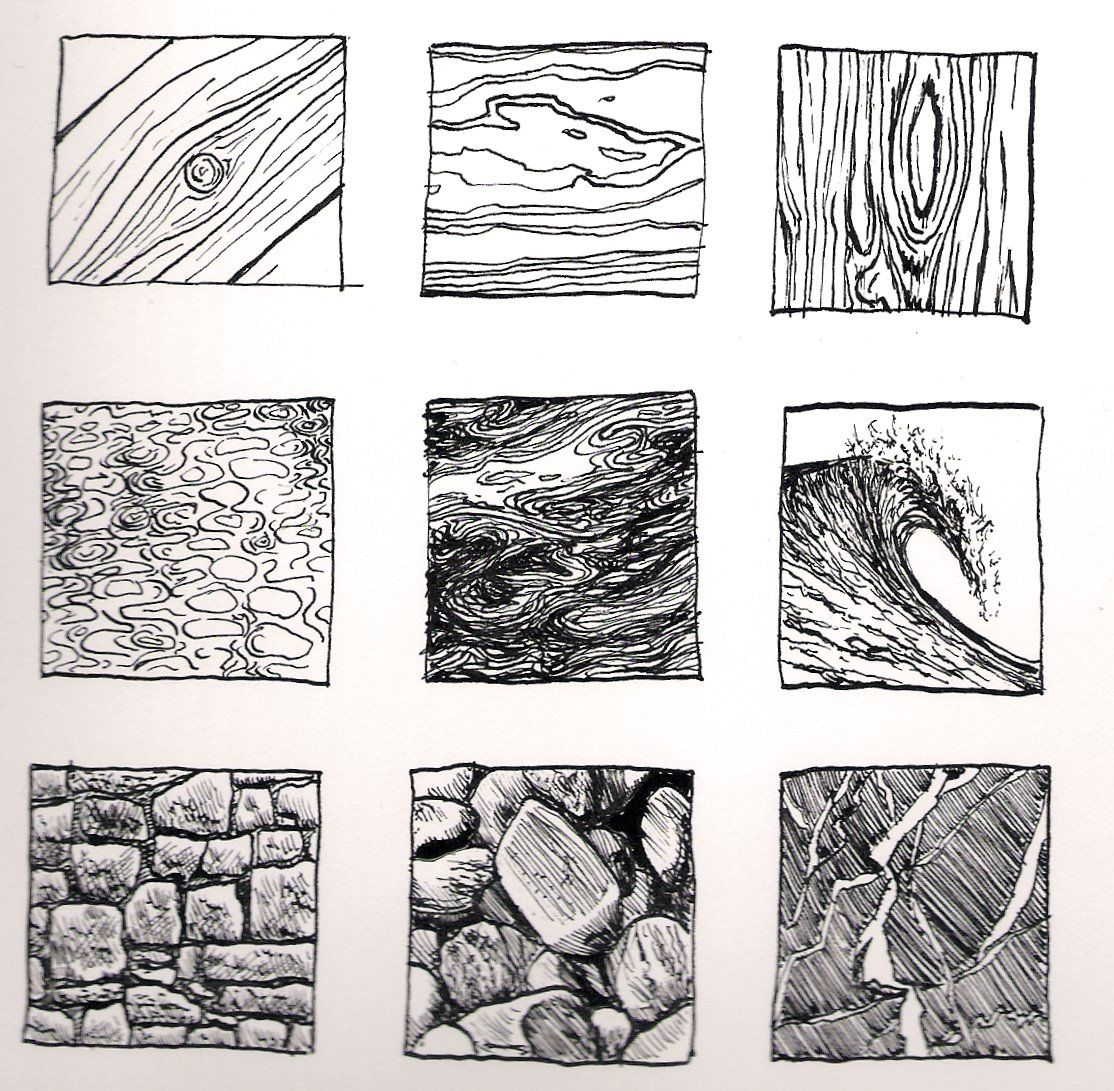 Pen Ink Texture Thumbs Image