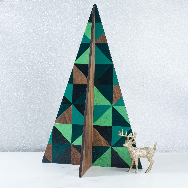 Large Geometric Christmas Tree Free Standing Decoration