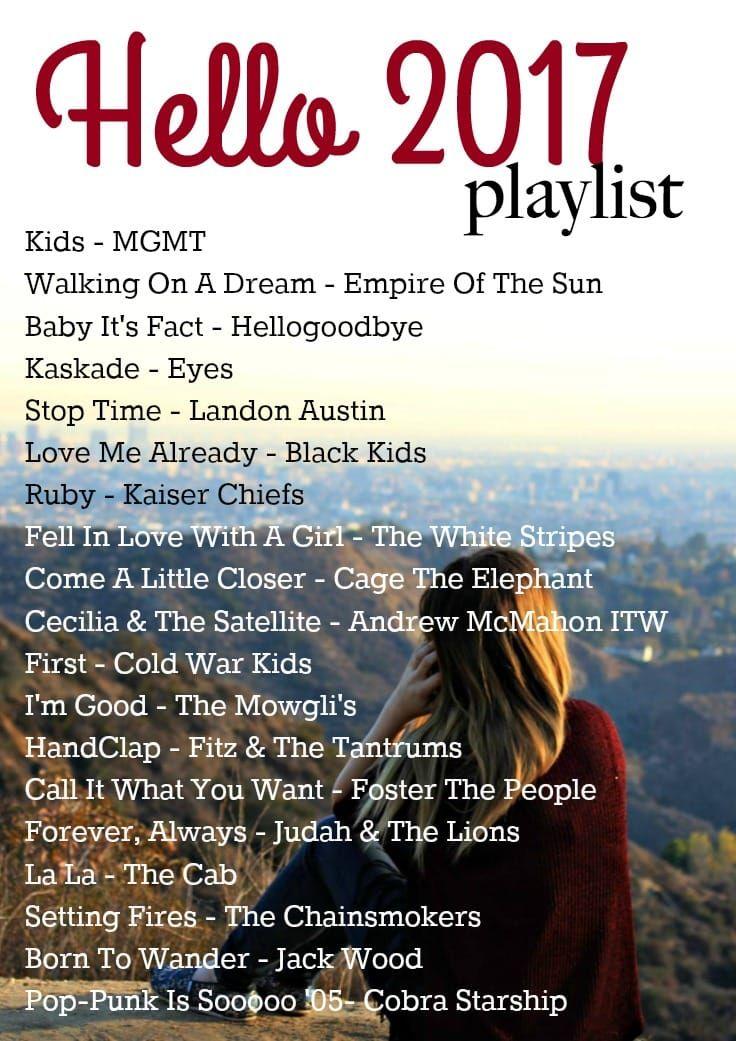 2017 Music Playlist Inspiring Pinterest Playlists
