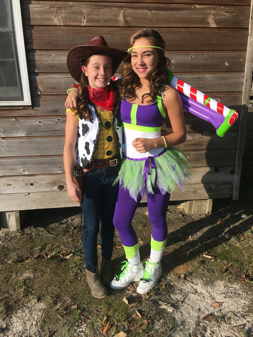 DIY Homemade Teen Toy Story Buzz Light Year and Woody