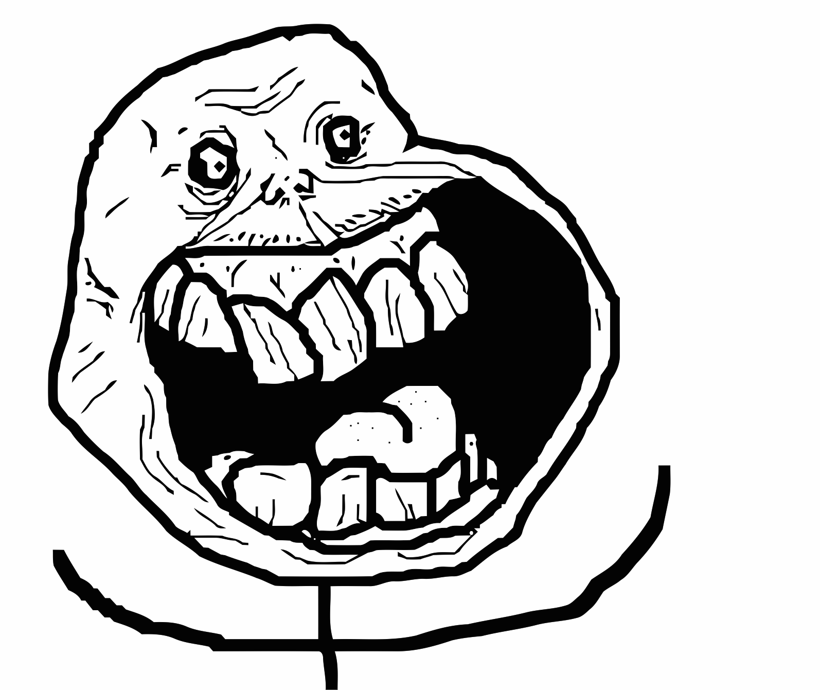 Forever Alone! face meme on All The Rage Faces! Things I