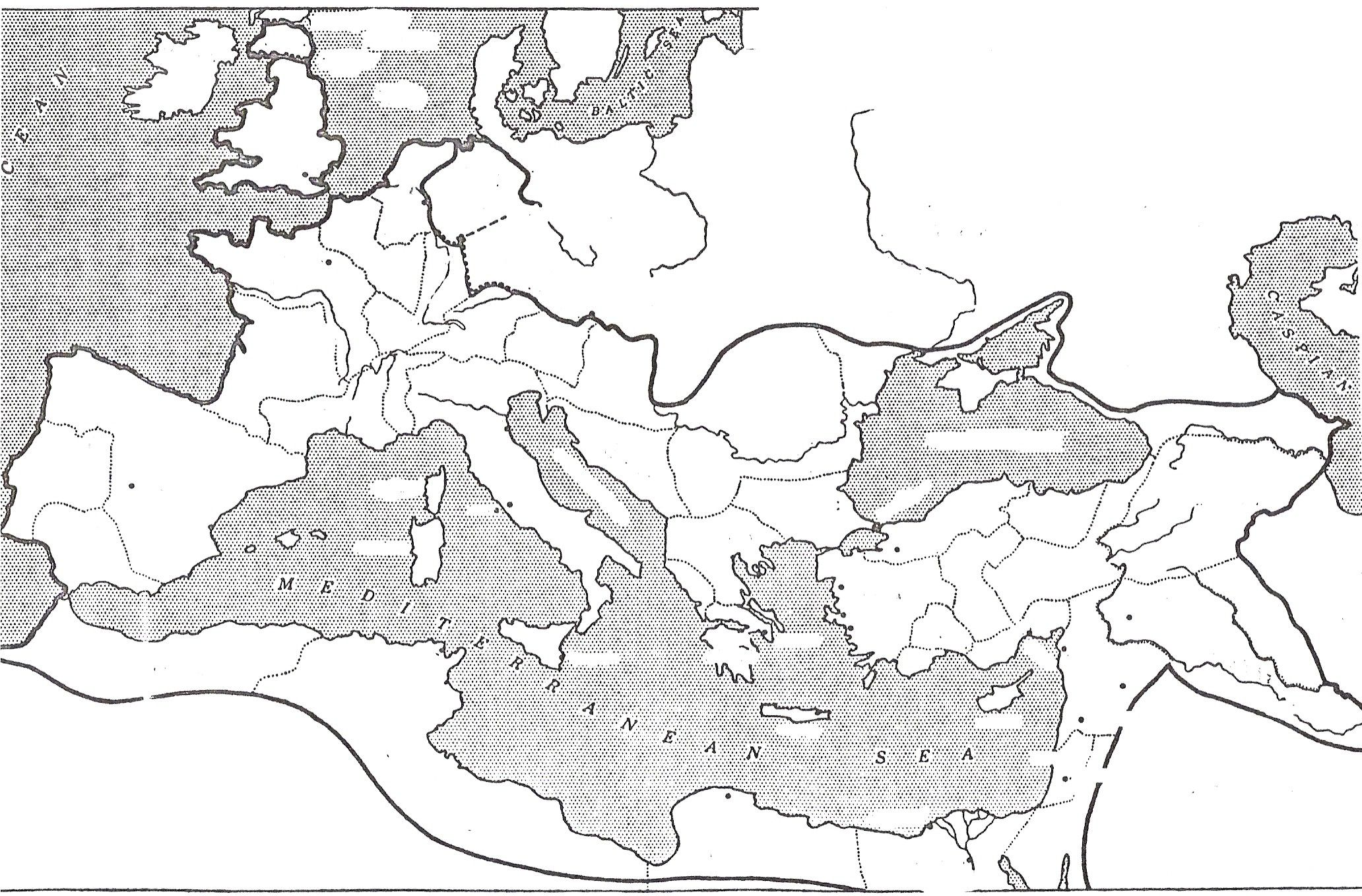 Blank Roman Map For Religion Week 21 Day 2 And Week 25