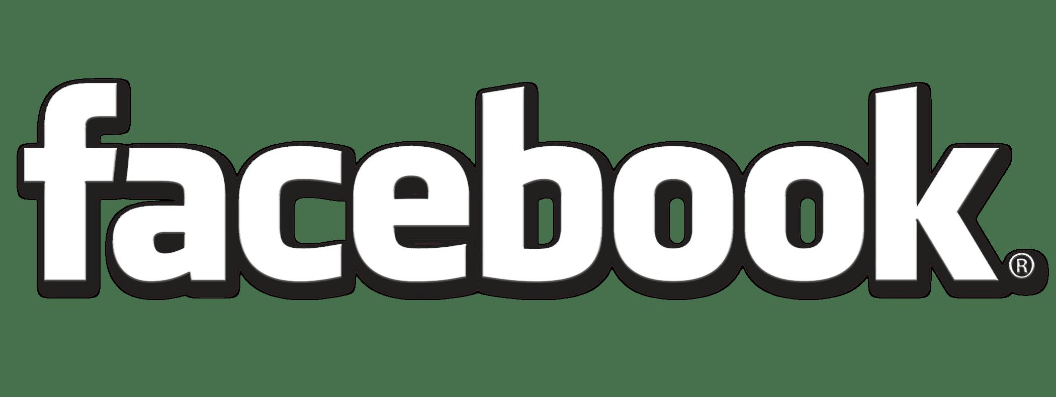 Facebook LOGO Weiss 2100x750