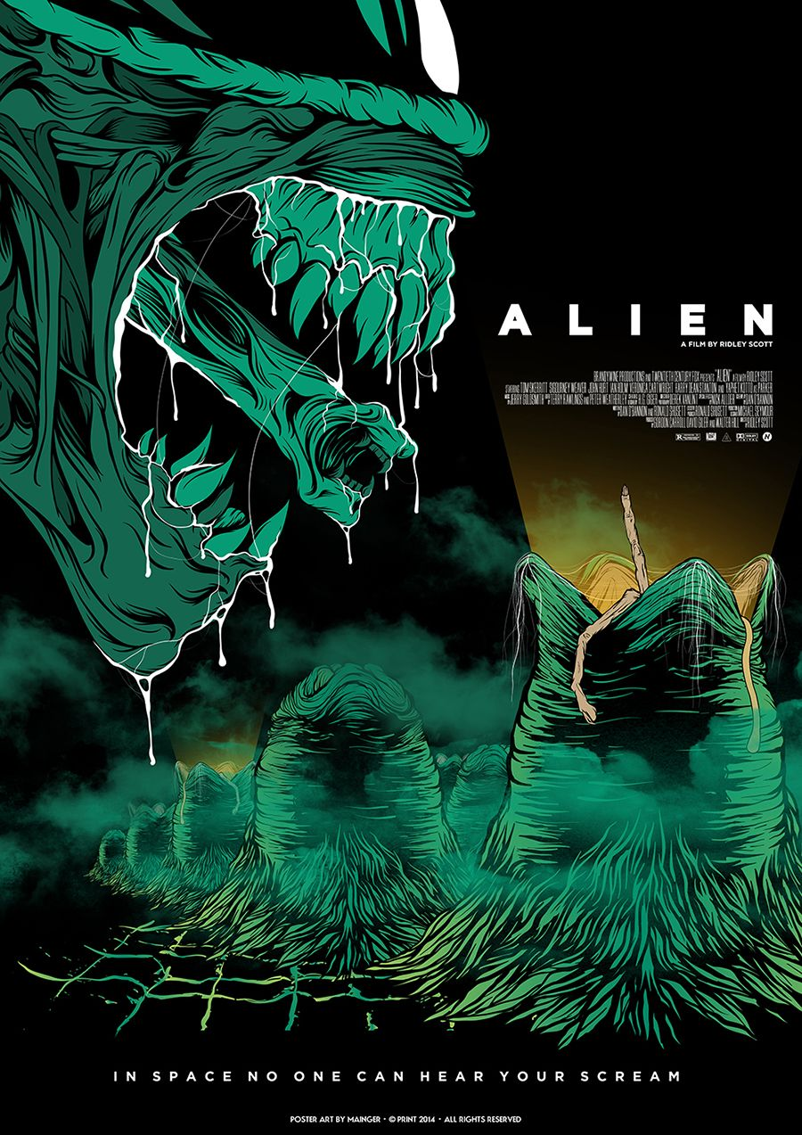 MAINGER Alien Fan Made Movie Posters Pinterest