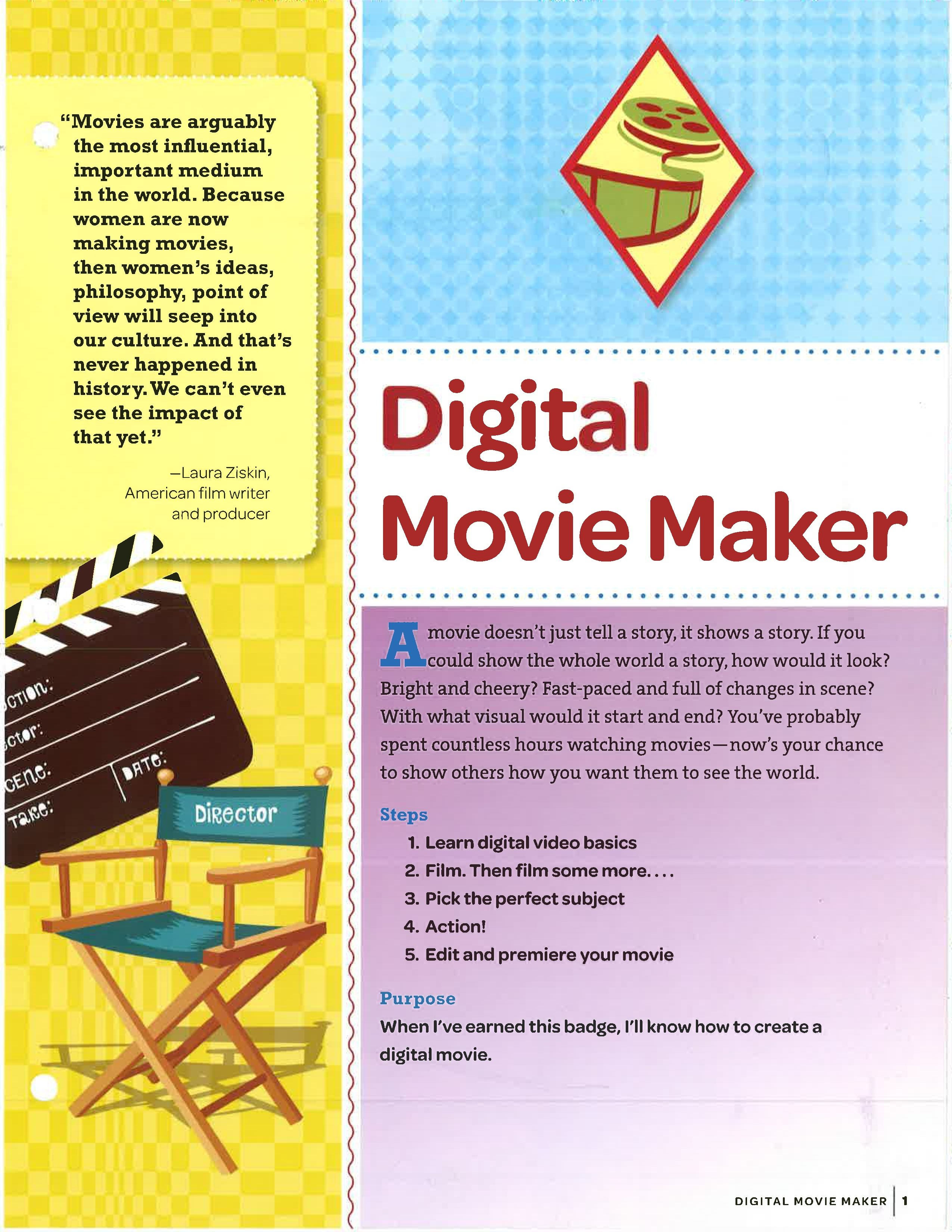 Digital Movie Maker Badge The Eight Phases Of Making A