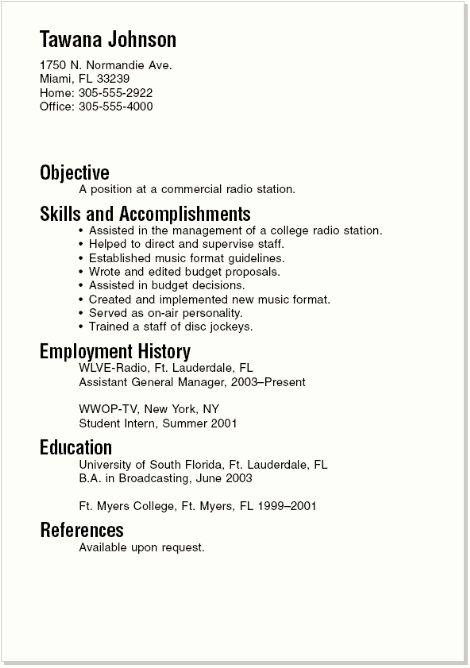 college resume format sample resume format documents in word pdf