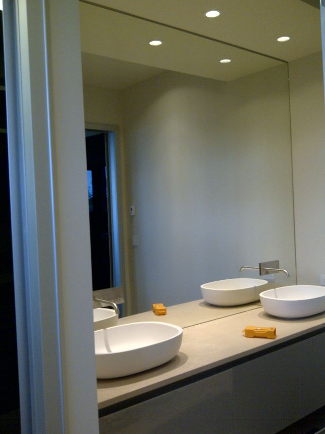 Mirror In Bathroom Ideas Full Size White Glass Wood Cool