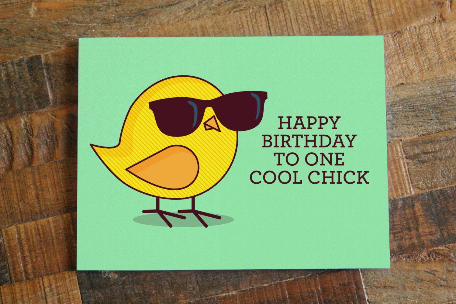 "Funny Birthday Card For Her ""Happy Birthday to One Cool"