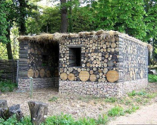 Gabion Log Wood Shed Http://www.gabion1.com