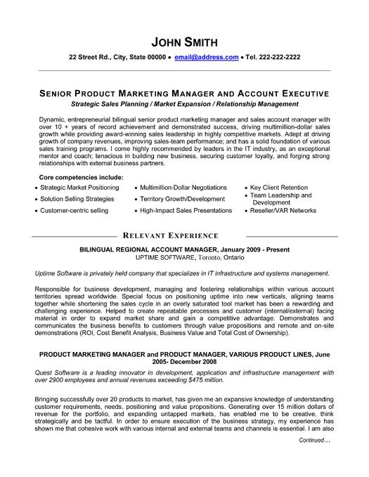 sample relationship management resume