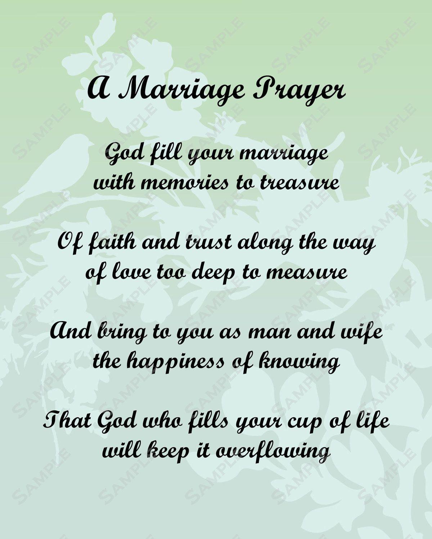 pick a poem for bride and groom Marriage Prayer Poem