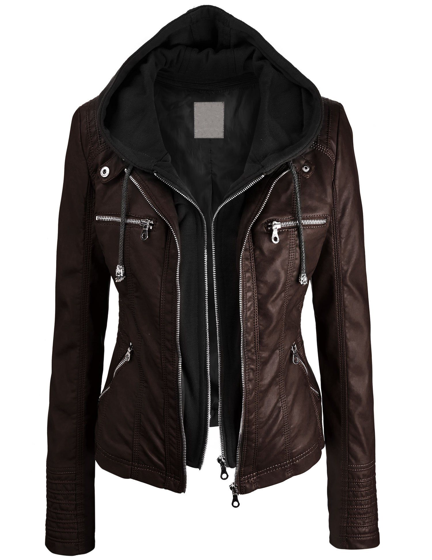 Lock and Love Women's Faux leather Jacket at Amazon Women