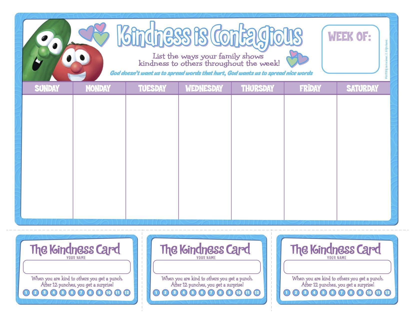 Free Printable Kindness Chart
