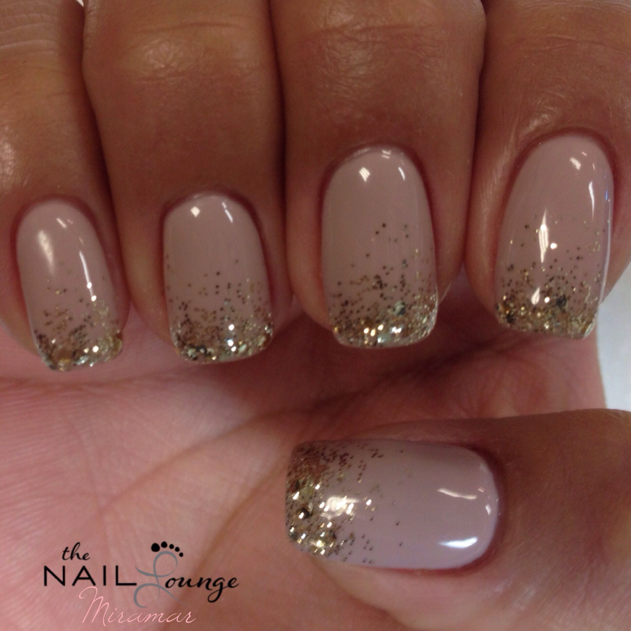 New Year's Eve sparkle glitter gel nails Nail Art