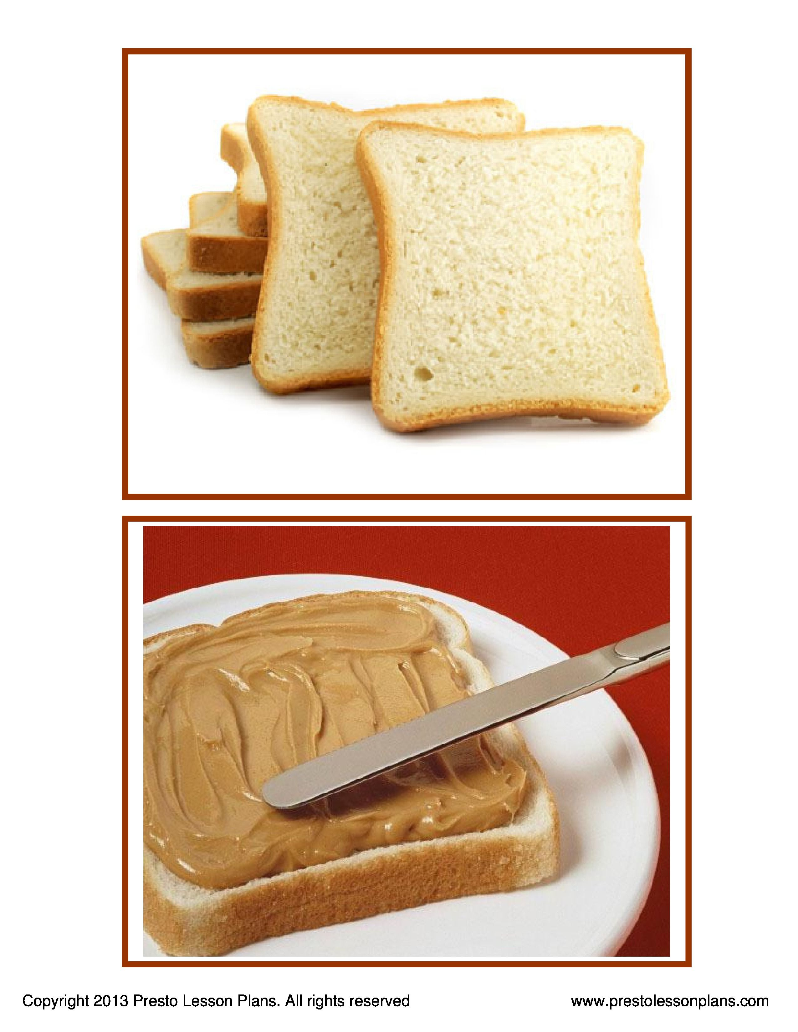 Peanut Butter And Jelly Sandwich Sequence Cards Develops