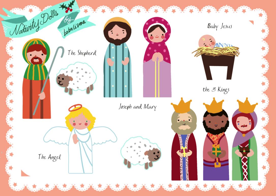 Free Paper Doll Nativity Printables