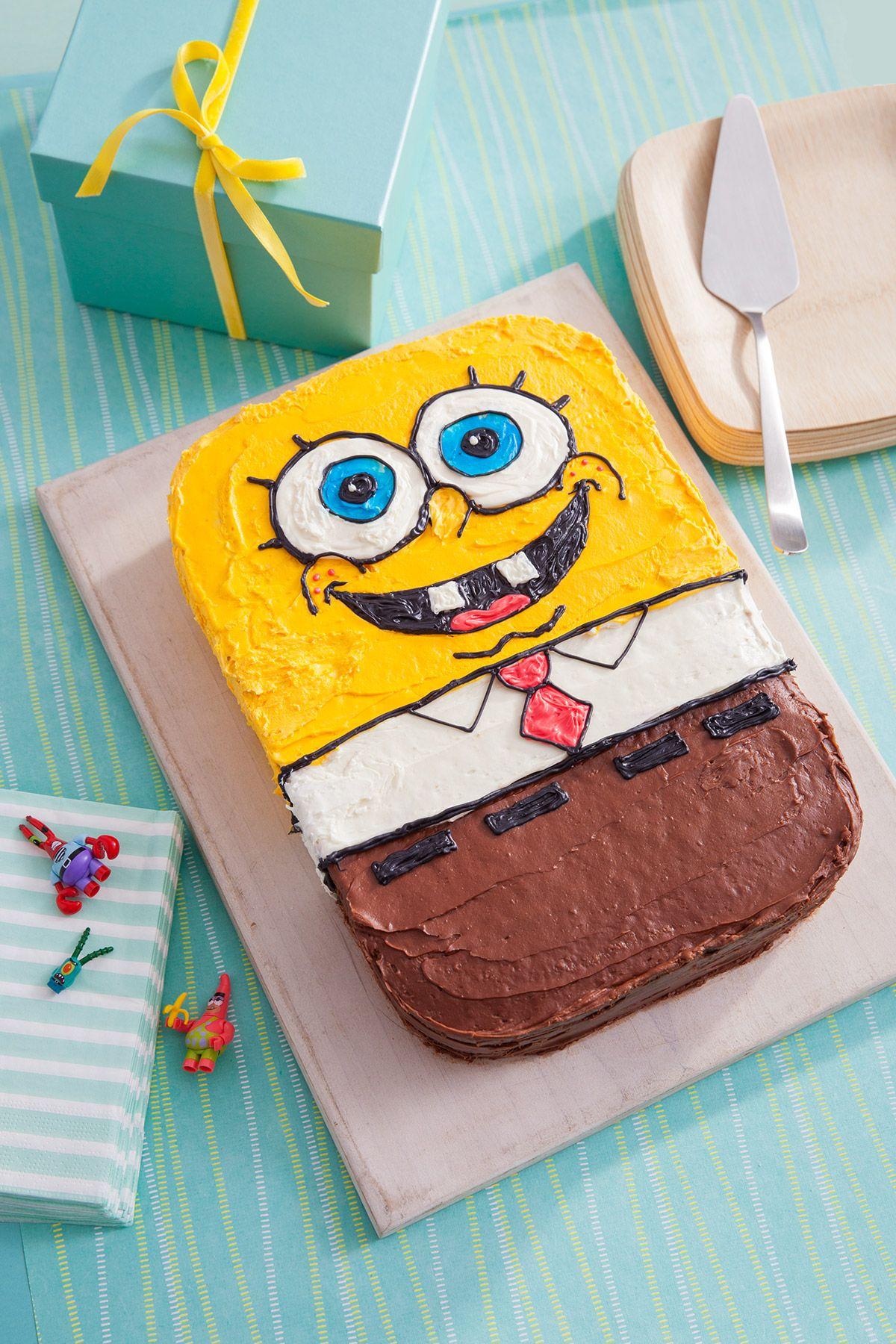 SpongeBob Birthday Cake Recipe Birthday cakes, Birthdays