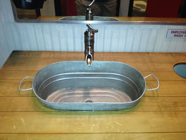 diy bathroom sink from a bucket