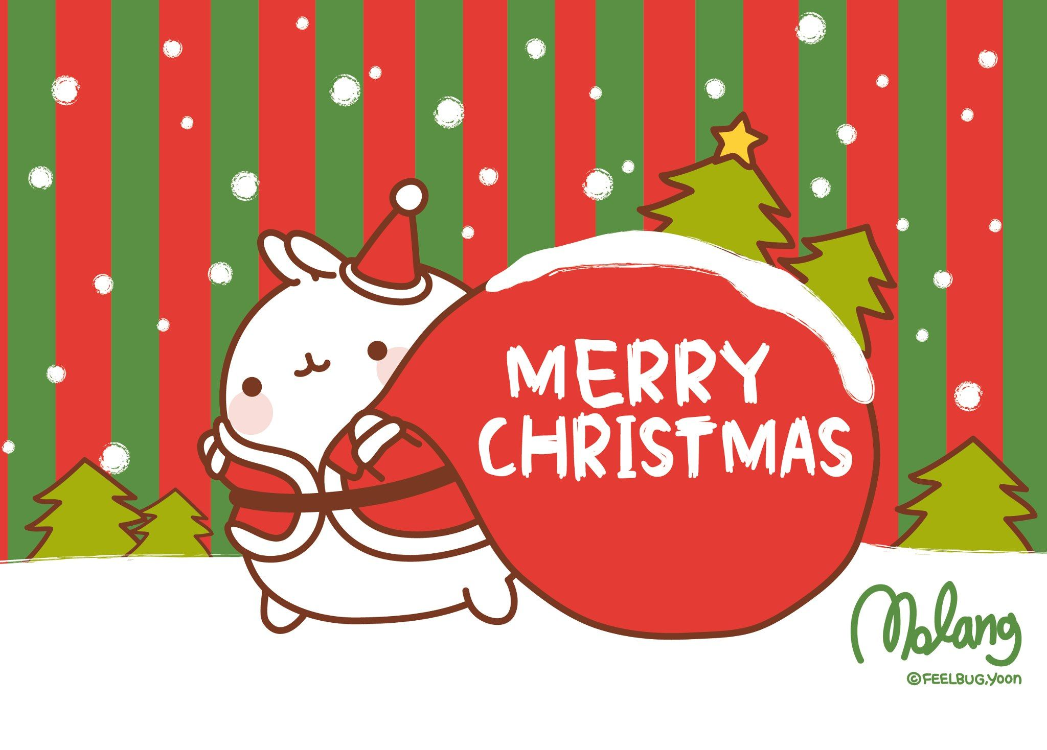 Merry Christmas, by Molang