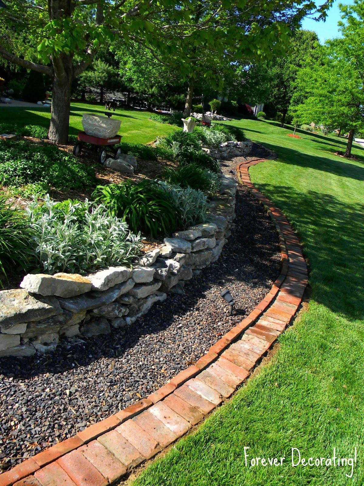 Forever Decorating! Brick Border gardening Pinterest