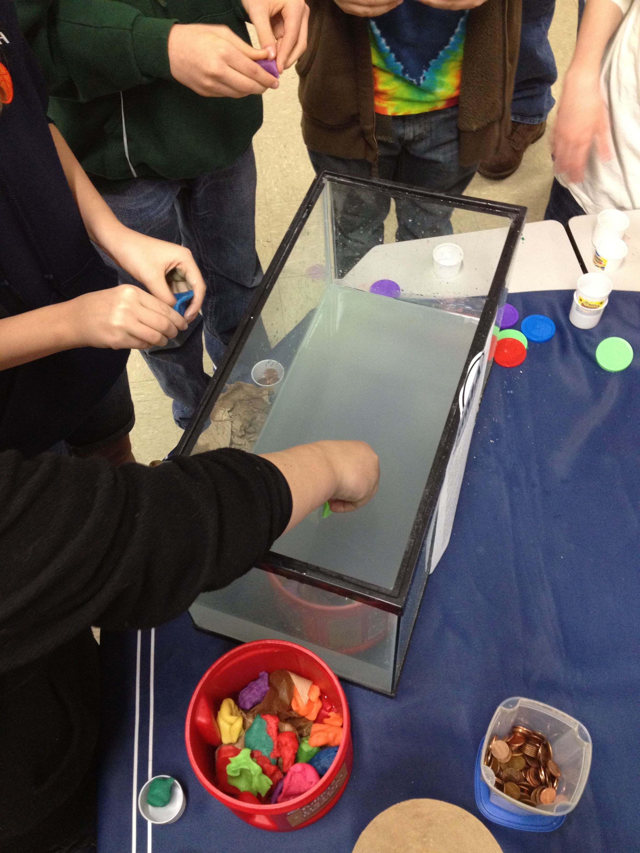 Students Test Their Clay Boats For Buoyancy At Stem Night See Activity At Education