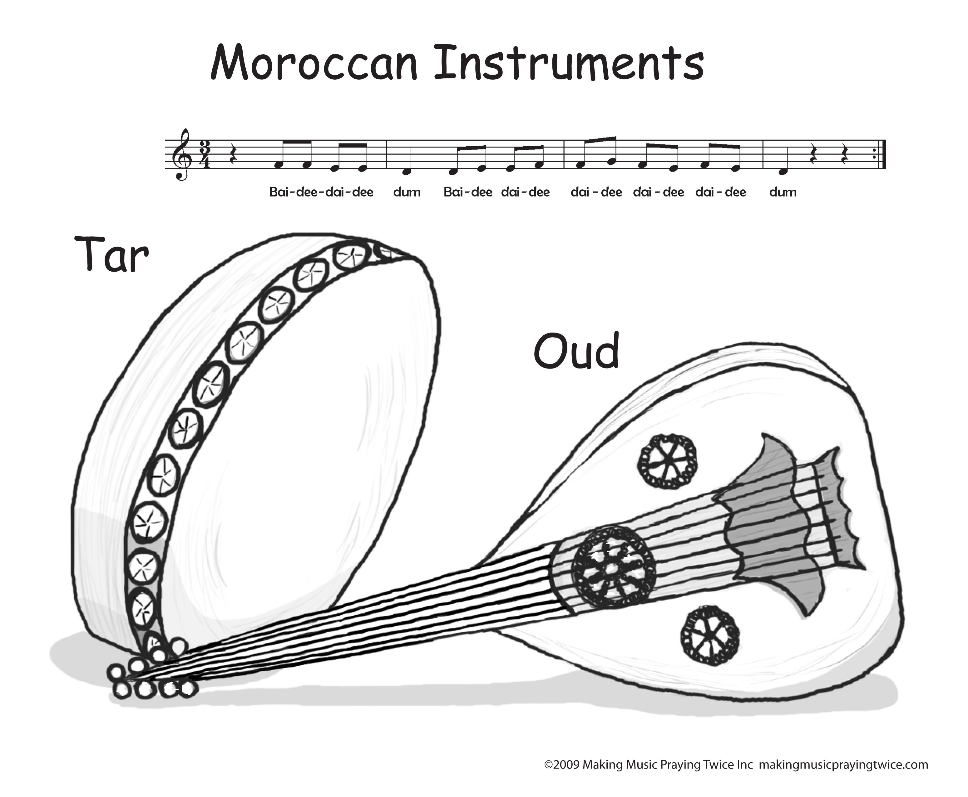 Mmpt Pictures S3azonaws Mmpt Coloring Pages Moroccan 20instruments