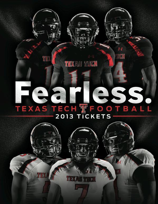 Texas Tech 2013 Football Ticket Book Cover designed by