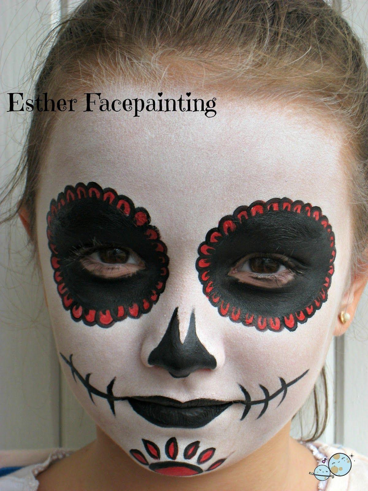 Maquillaje de halloween para niños Catrina DISFRACES