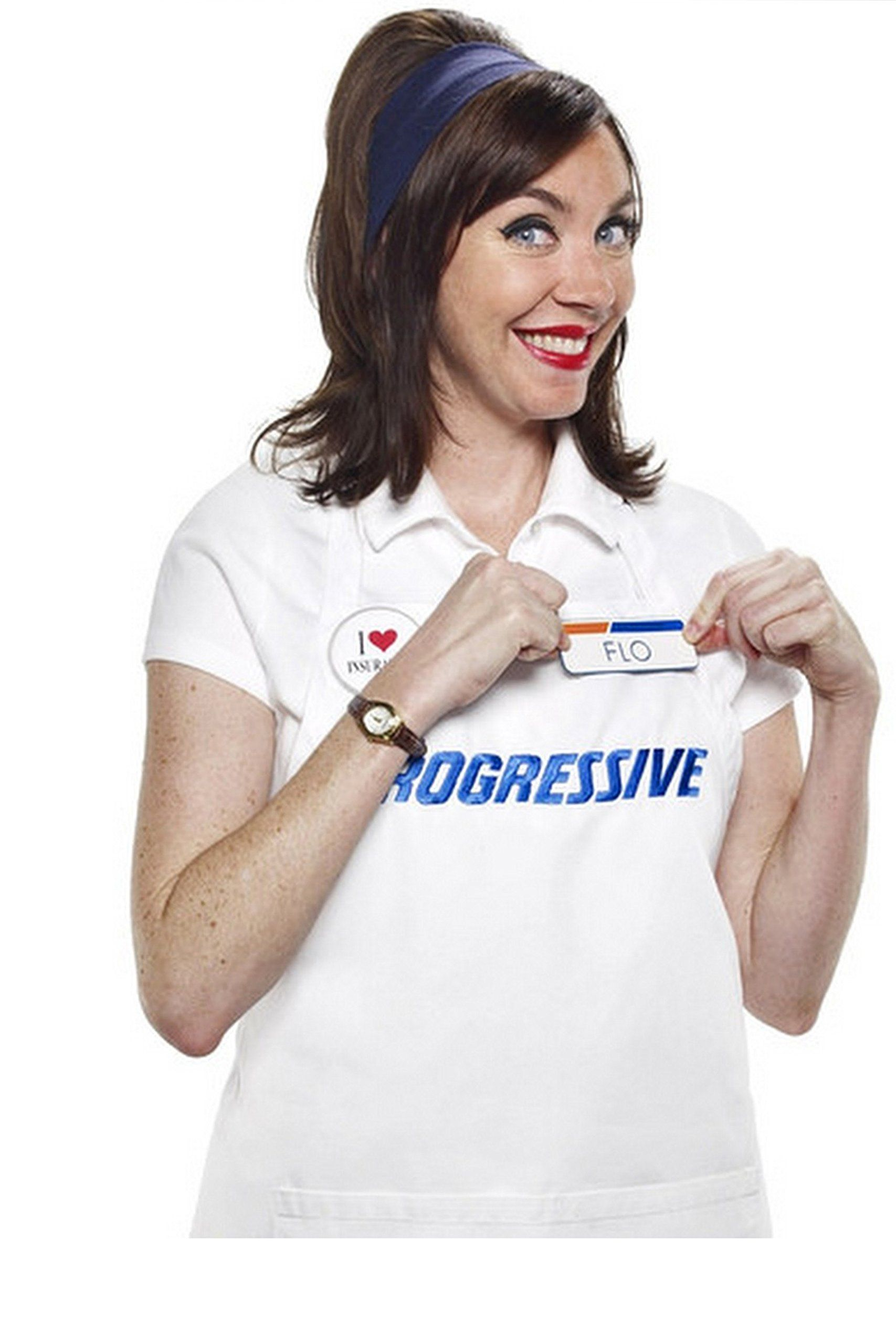 Progressive Collection Flo Insurance Girl Costume, One