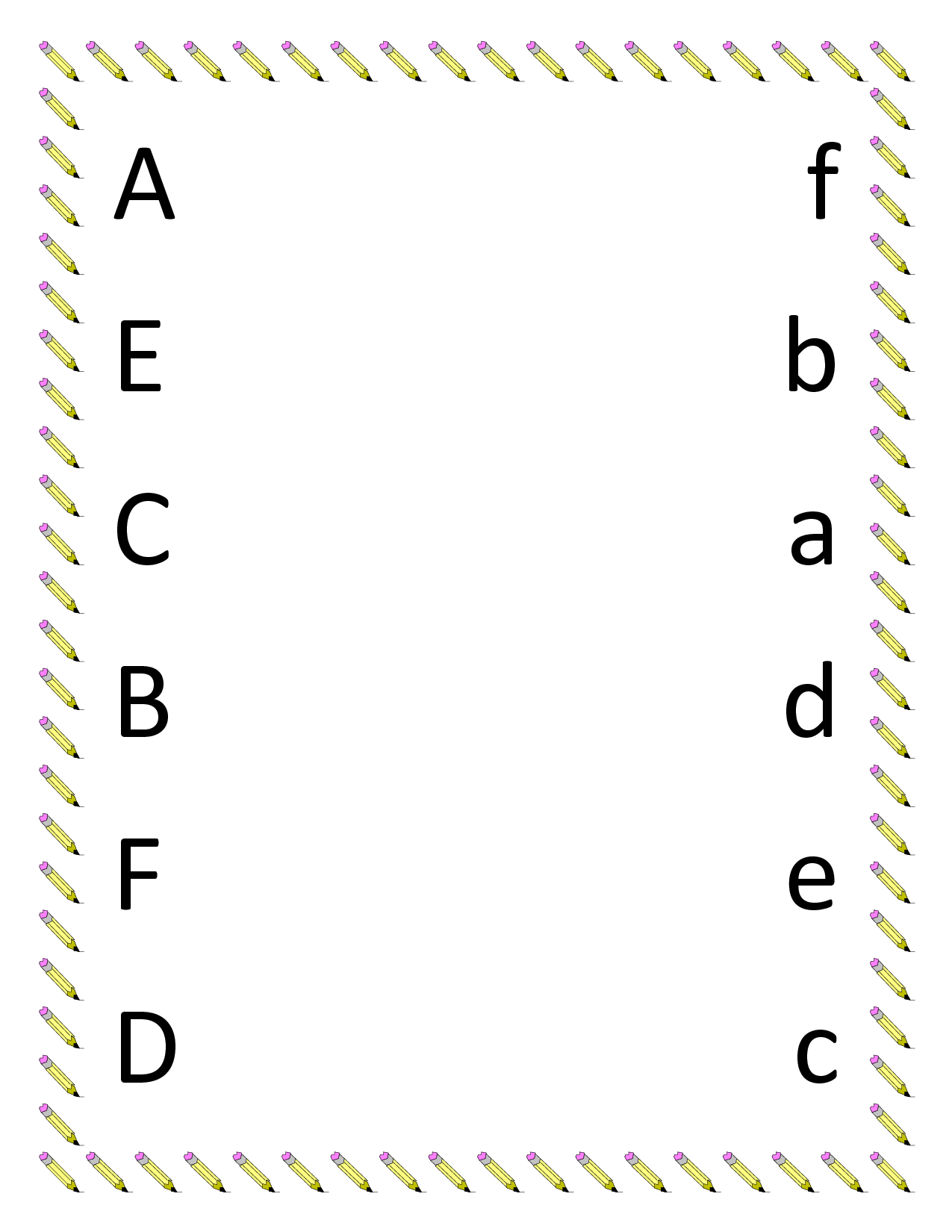 Free Printable Alphabet Matching Worksheets