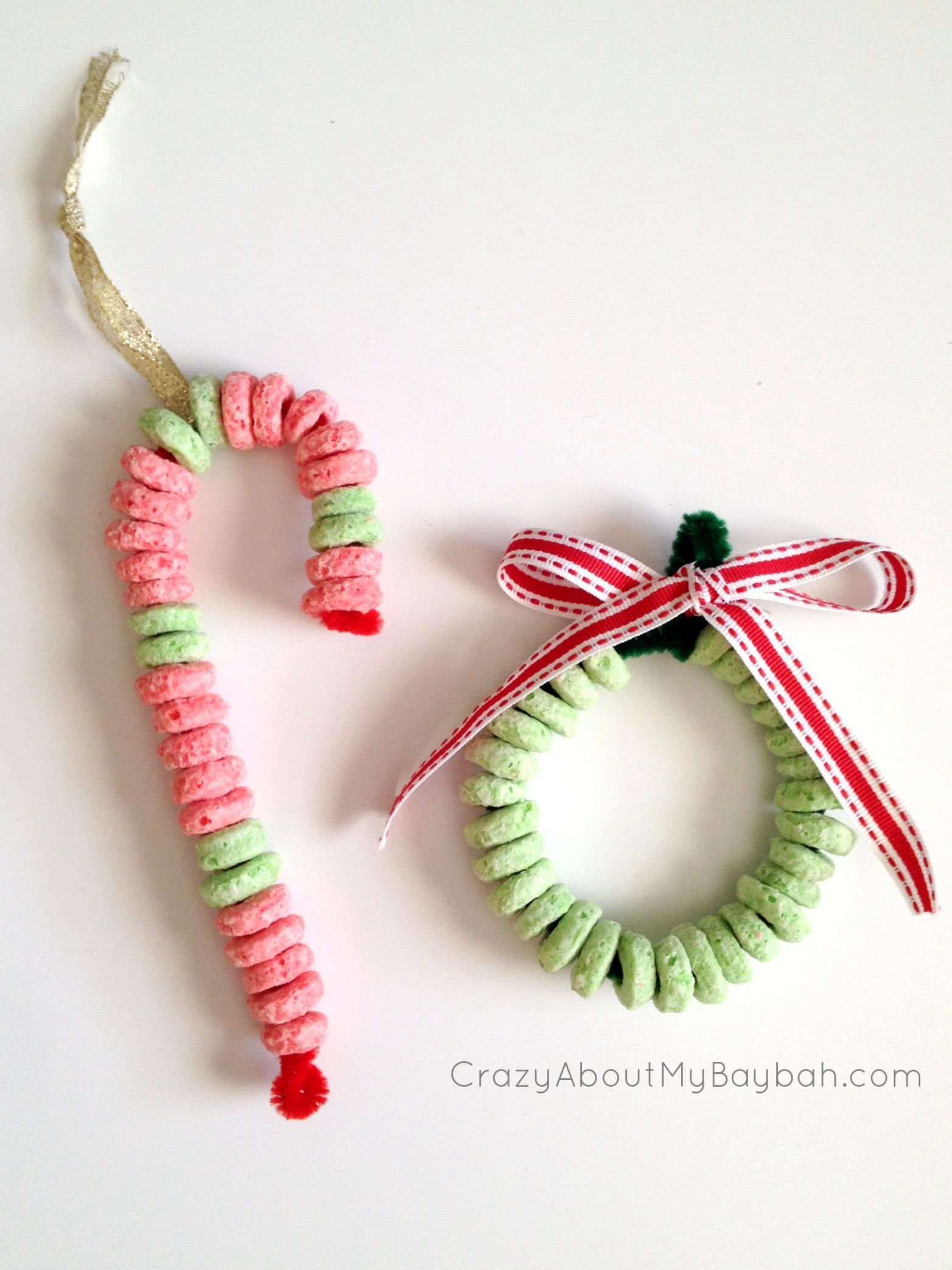 Candy Cane And Wreath Ornament Craft