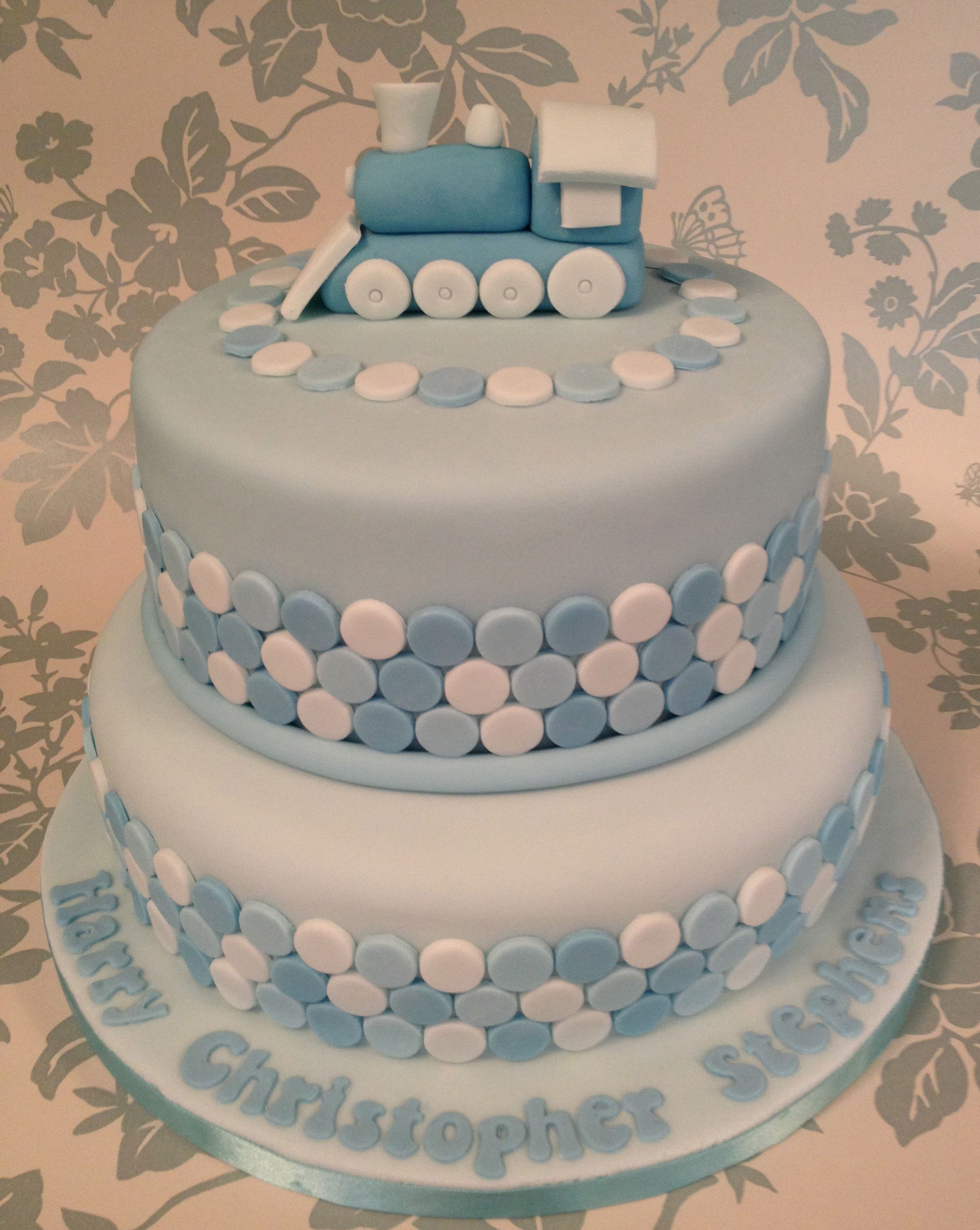Christening Cake For A Boy But Switch Out Train For