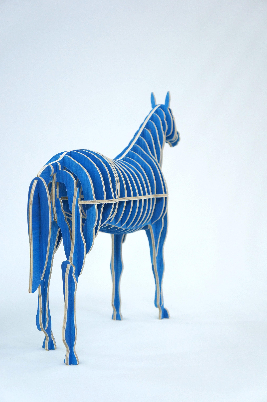 Blue Horse CNC cut, Sunghyun An Furniture & Object