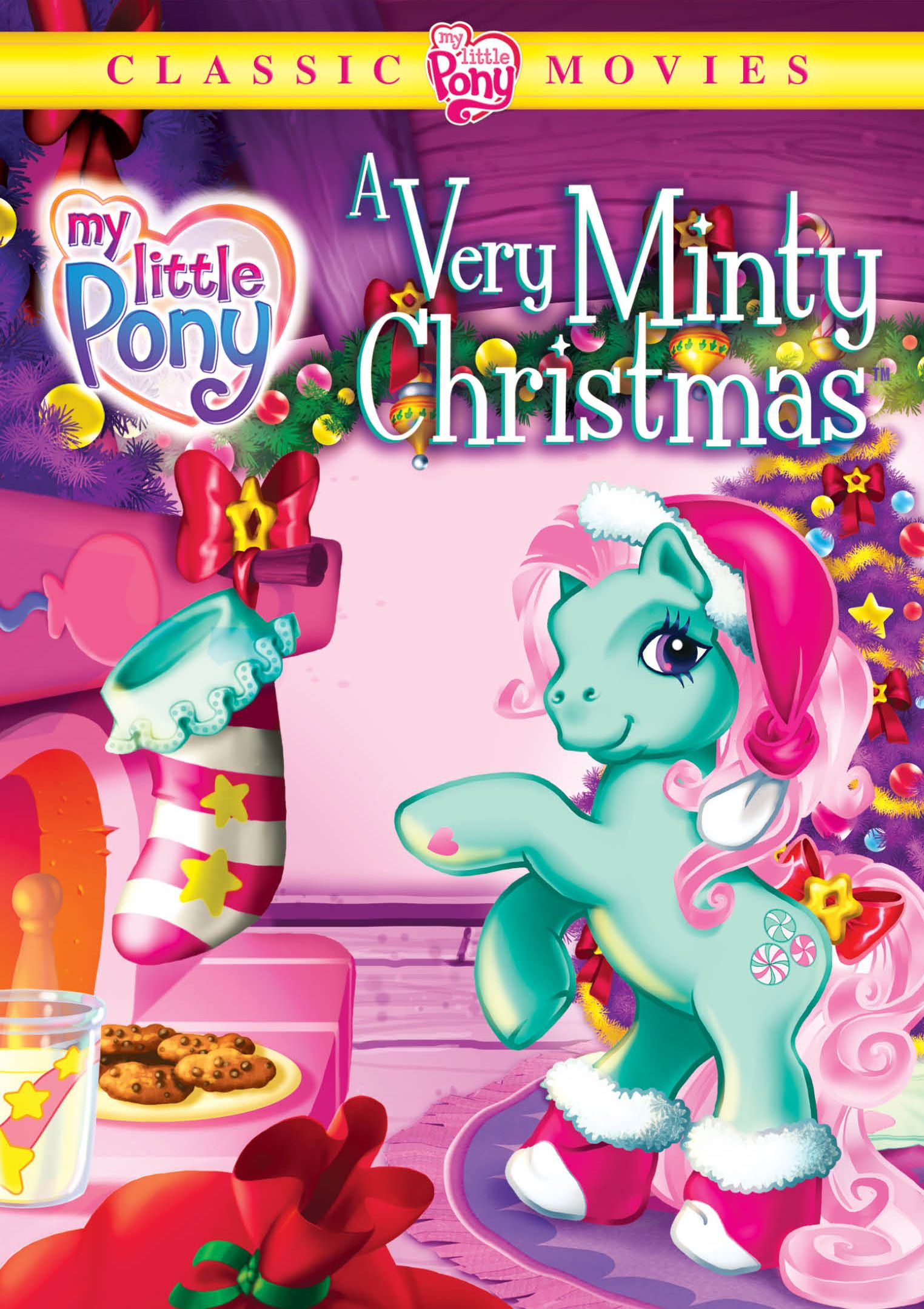 "The classic My Little Pony movie "" A Very Minty Christmas"