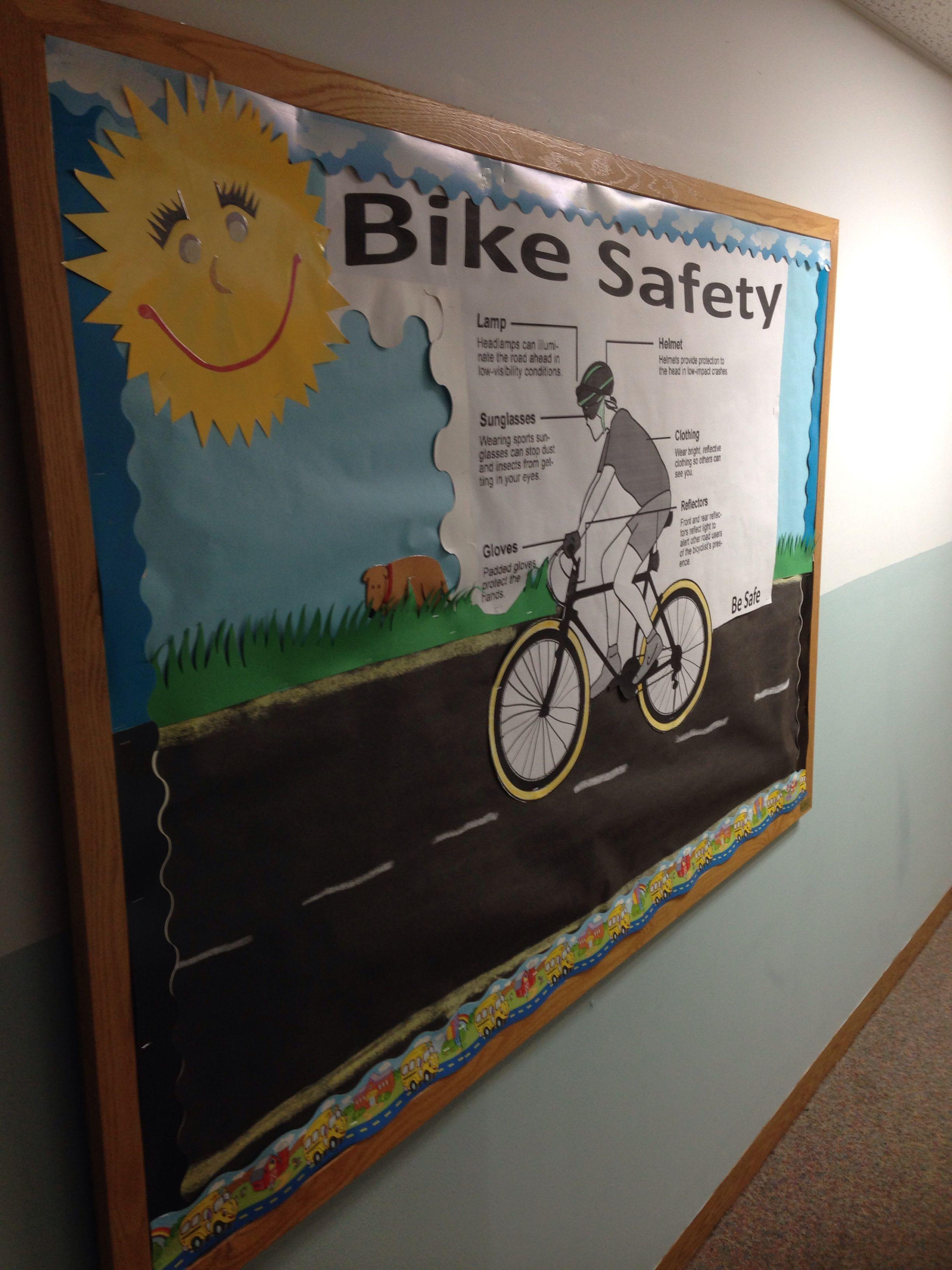 Bike Safety bulletin board Bulletin board Pinterest